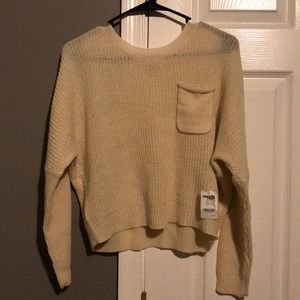 Charlotte Russe cream sweater- size S NWT